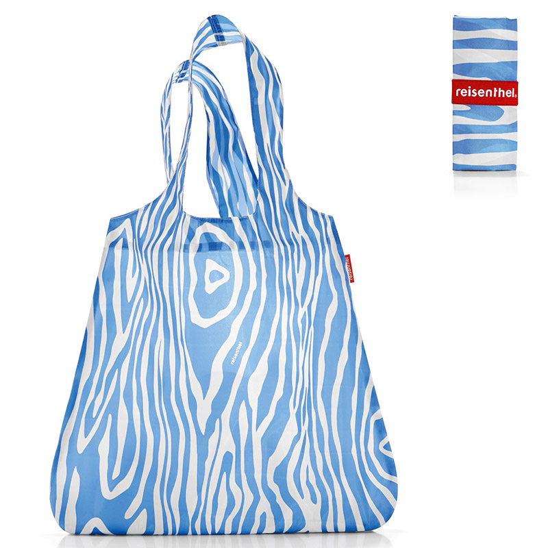 Сумка складная Mini maxi shopper zebra blue купить