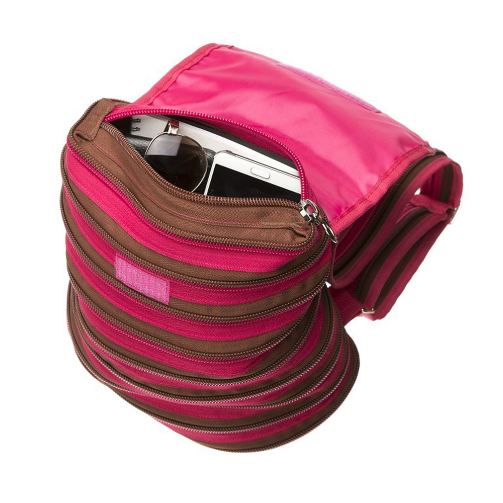 Рюкзак Zipit Zipper Backpack Pink-Brown ZBPL-1