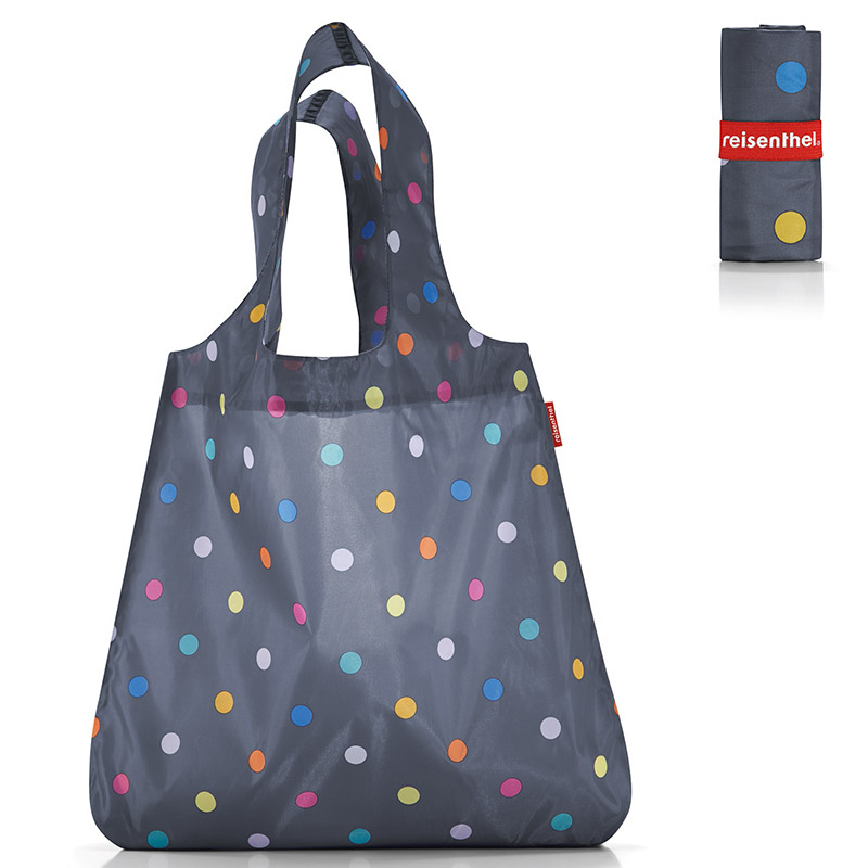 Сумка складная Mini maxi shopper dots grey