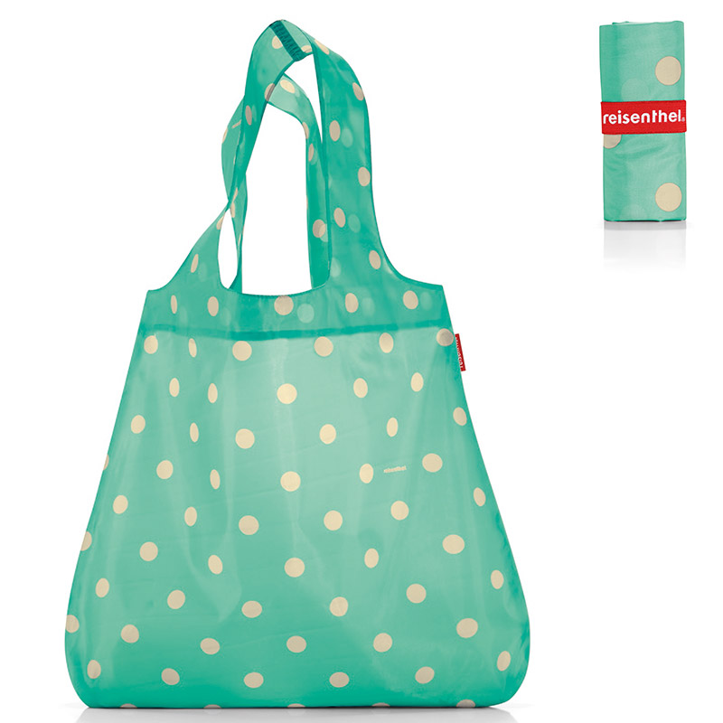 Сумка складная Mini maxi shopper dots mint