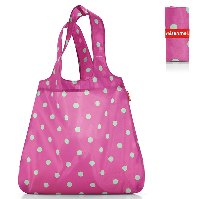 Сумка складная Mini maxi shopper dots pink - 1