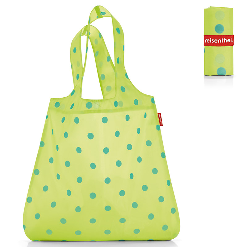 Сумка складная Mini maxi shopper dots green