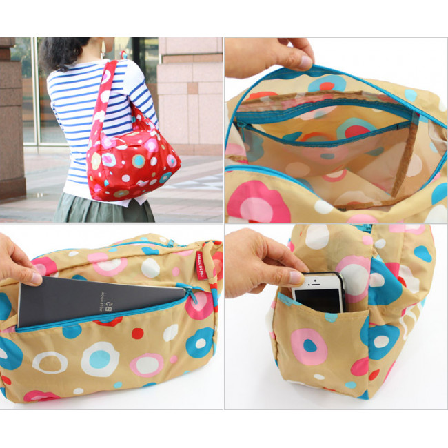 Сумка складная Mini maxi citybag funky dots 2 фото