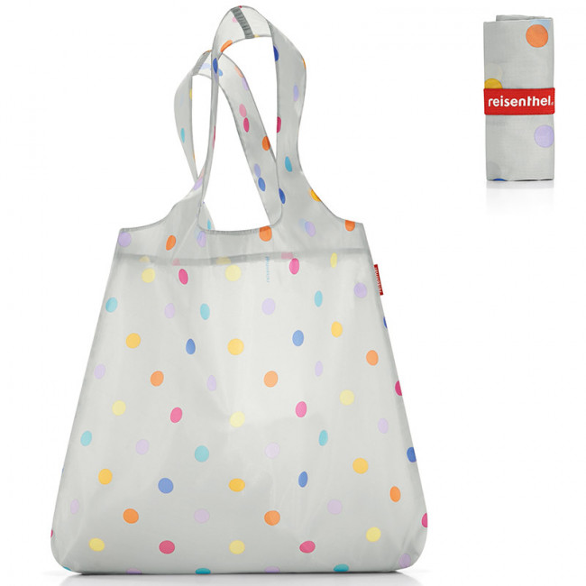 Сумка складная Mini maxi shopper dots white фото