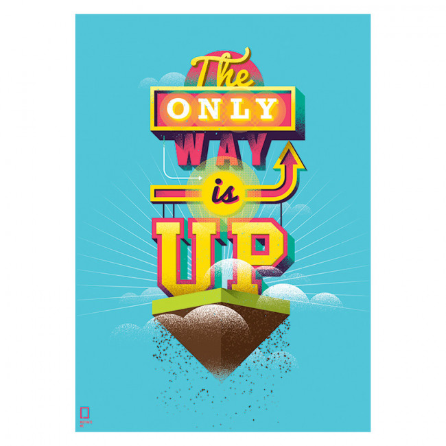 Постер The Only Way Is Up А2 фото