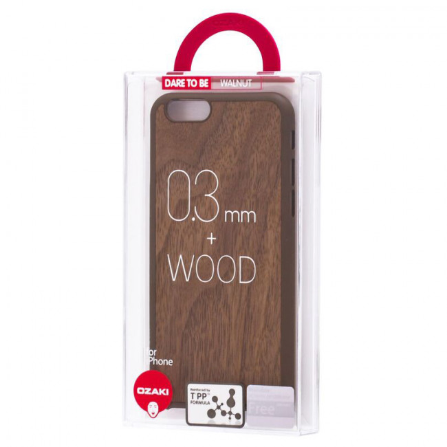 Чехол для iPhone 6/6S Ozaki O!coat 0.3+ Wood case Walnut фото