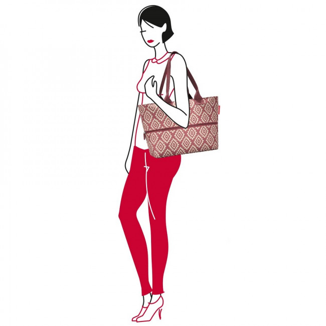 Сумка Shopper E1 diamonds rouge фото