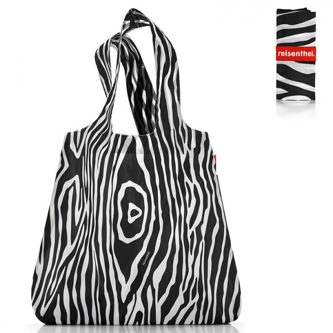 Сумка складная Mini maxi shopper zebra black фото