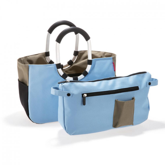 Сумка Loopshopper M patchwork pastel blue фото