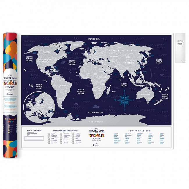 Карта Travel Map Holiday World фото