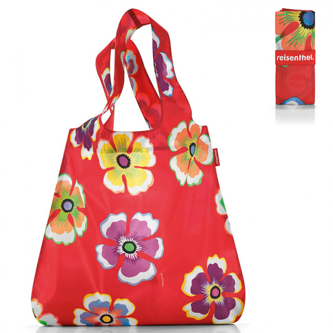 Сумка складная Mini maxi shopper flowers red фото