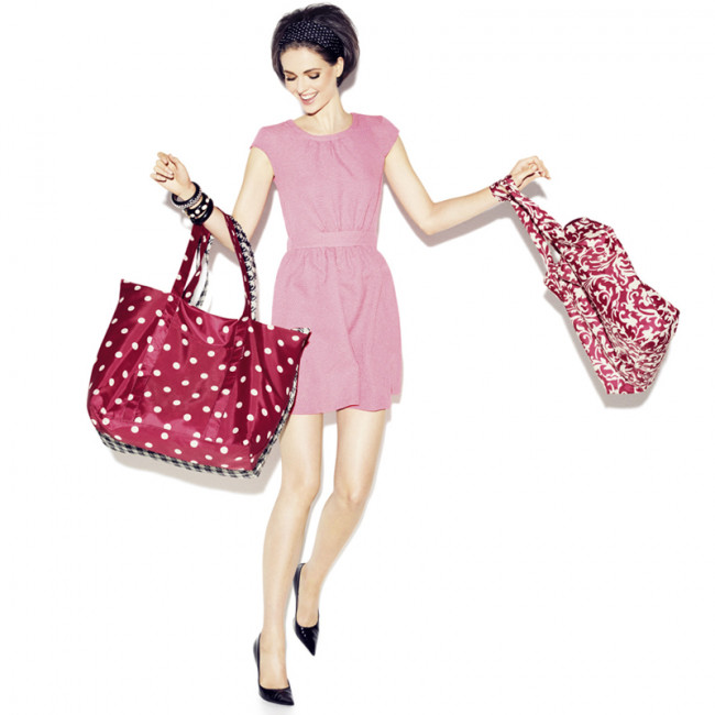 Сумка складная Mini maxi travelbag funky dots 1 фото