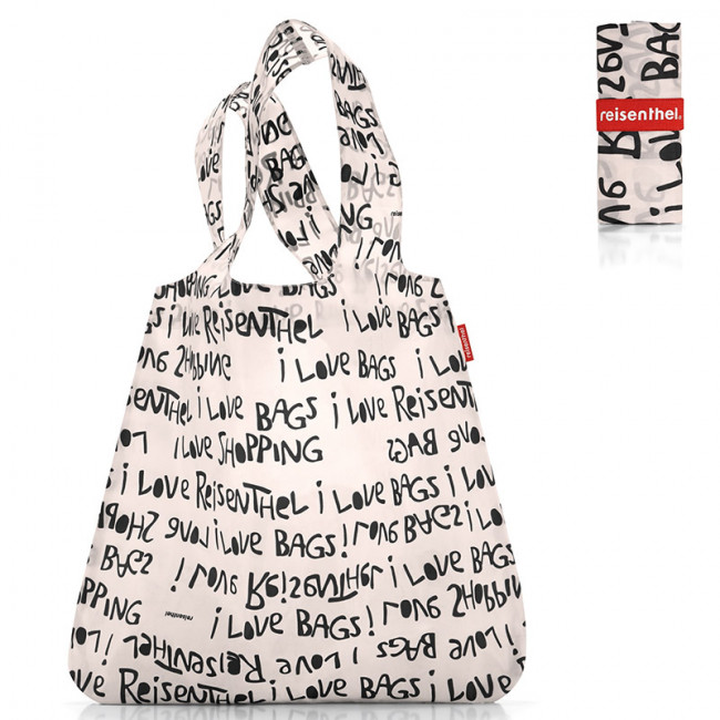 Сумка складная Mini maxi shopper letters white фото